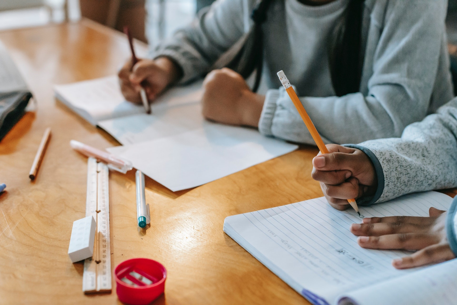 Students do schoolwork to combat unfinished learning and address learning loss.