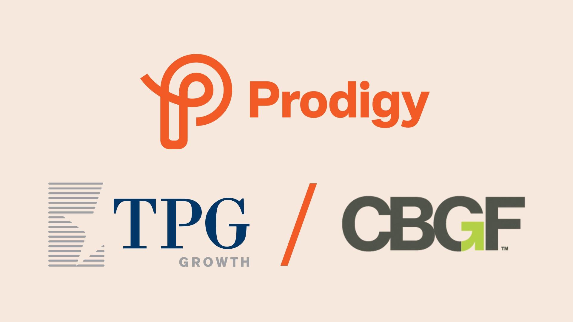 Prodigy, TPG Growth and CBGF logos.
