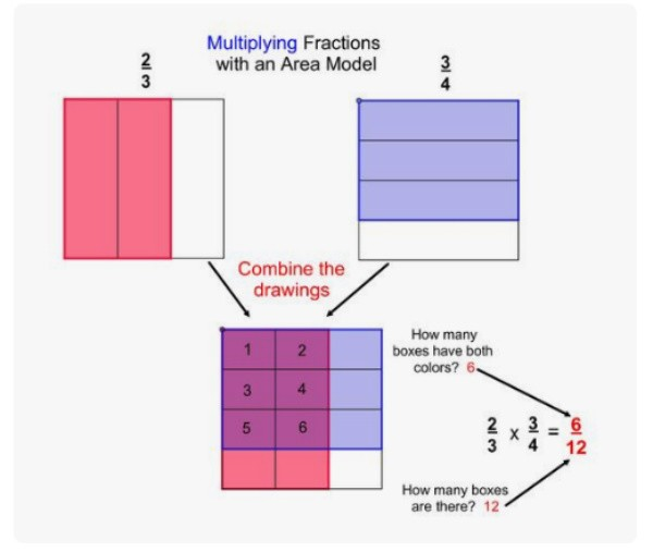 Area models for fraction multiplication