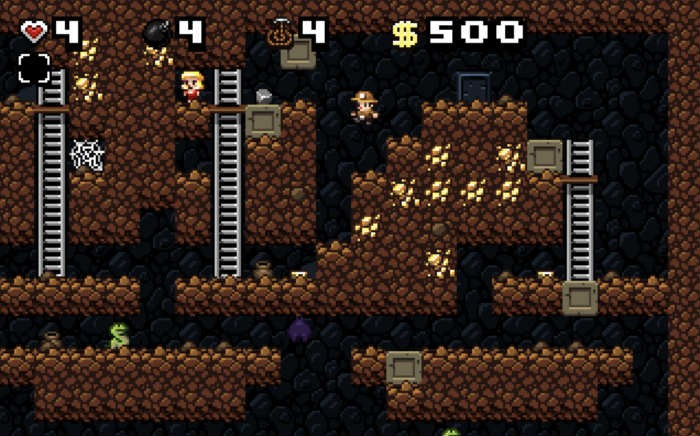 Spelunky H T M L five browser game