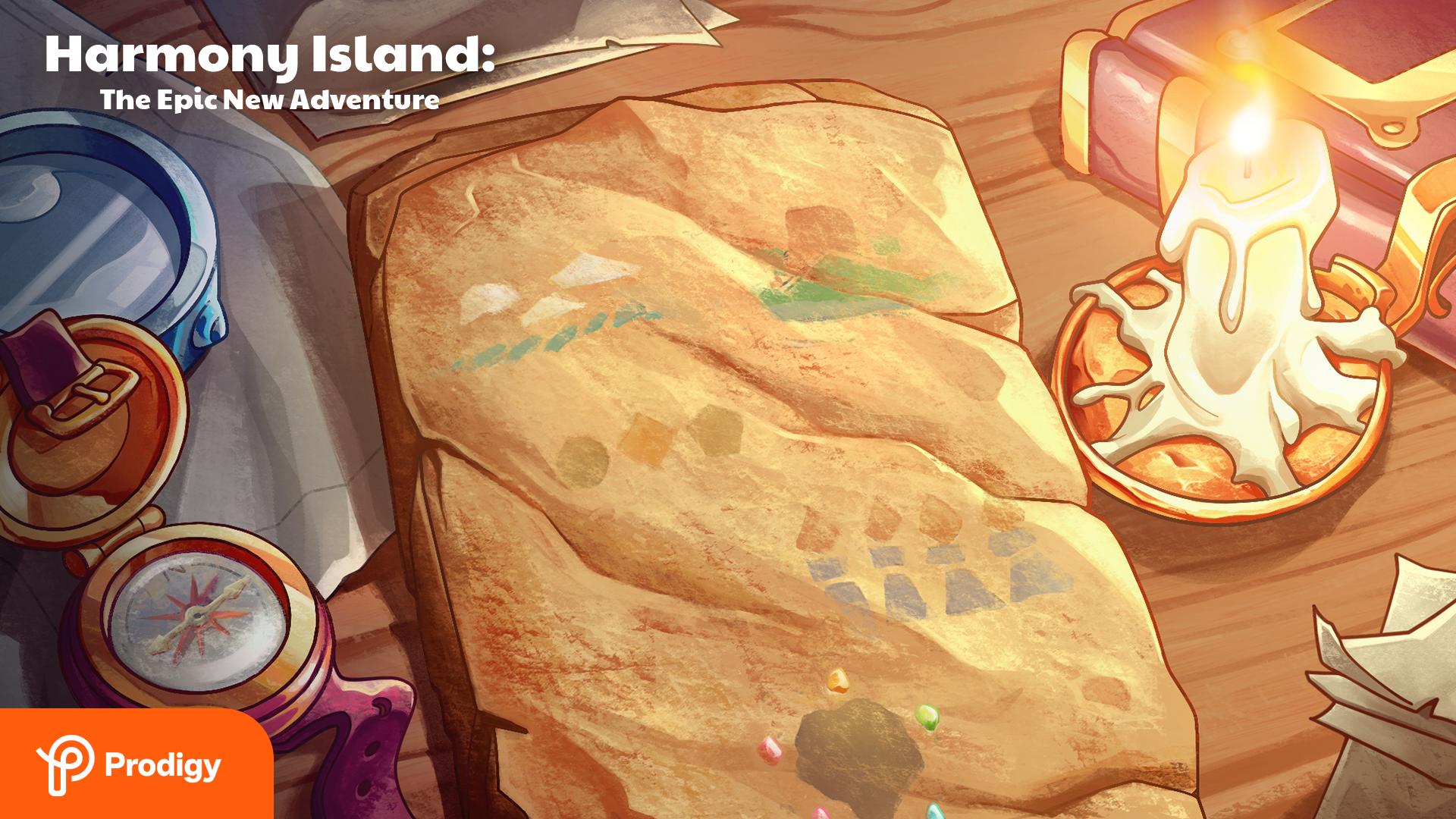 Harmony Island Zoom background: the tablet