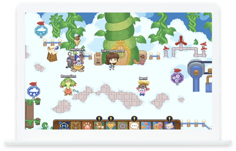 A glimpse of what your child sees in Prodigy Math Game.