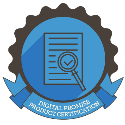 Prodigy Education's research based design product certification badge from Digital Promise.