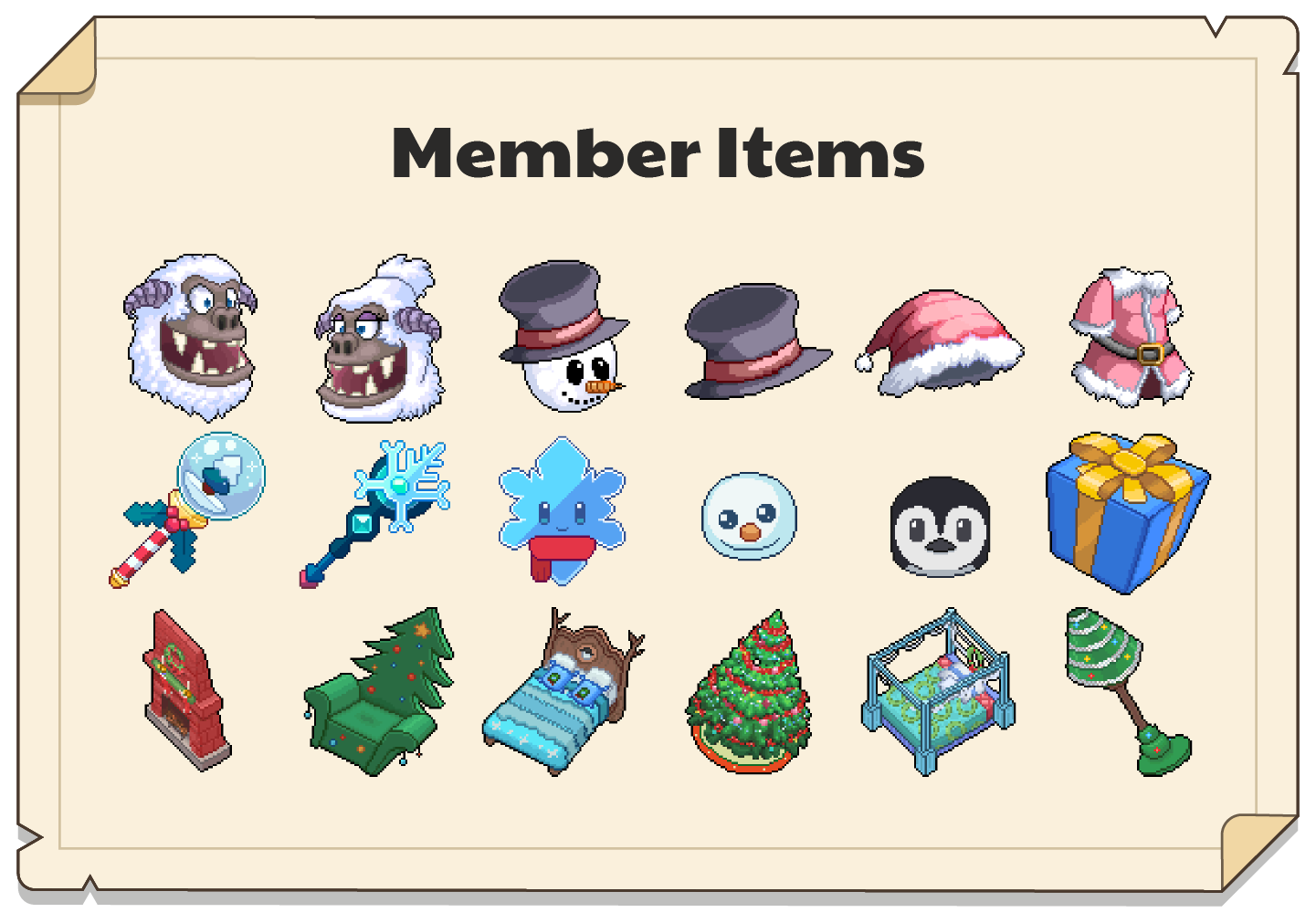In-game Winterfest items for Premium Members