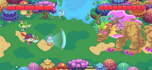 Screenshot of a team battle against a Titan in Prodigy Math Game