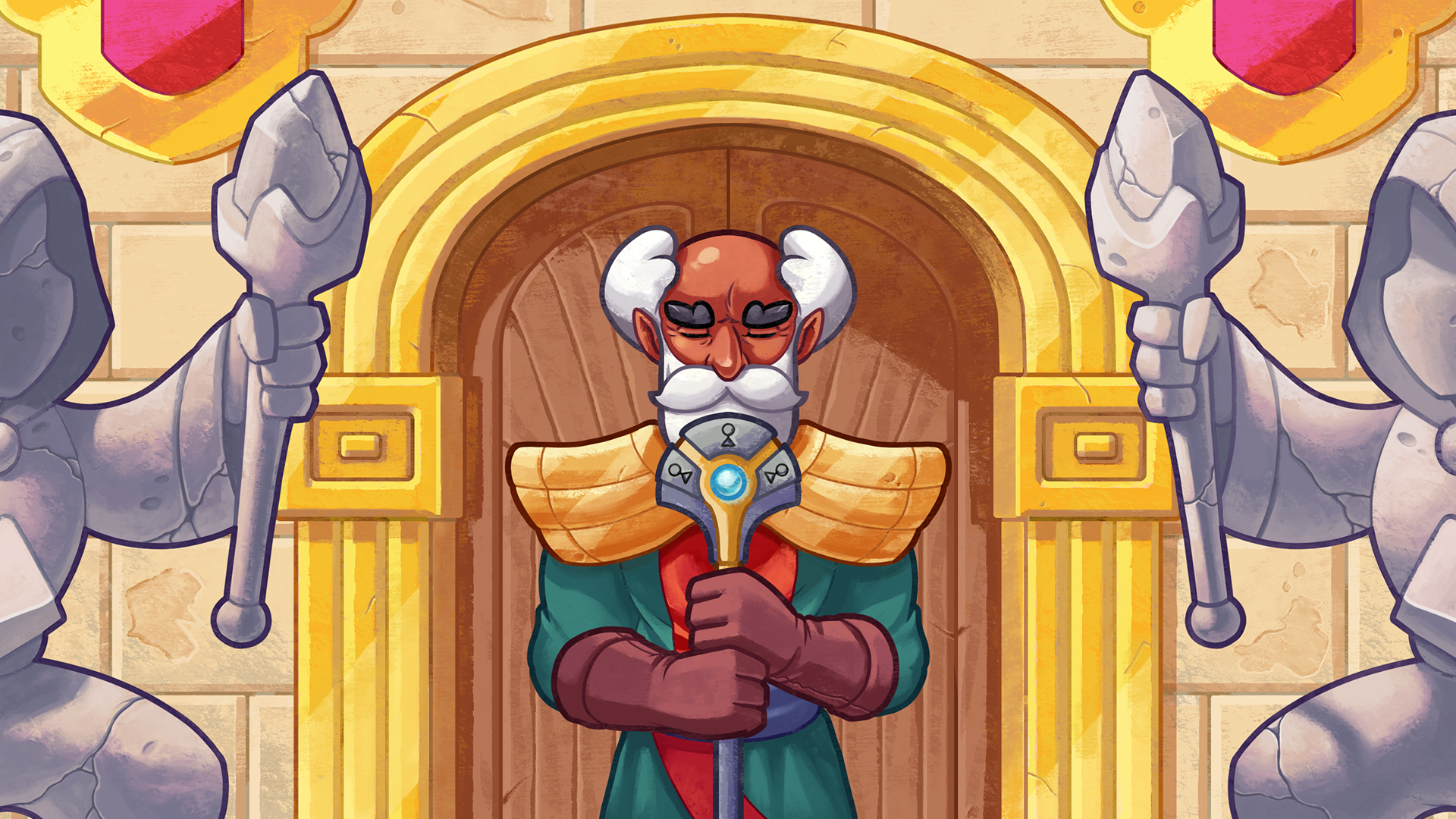 The Great Prince E-Spell standing in front of the Arena doors.