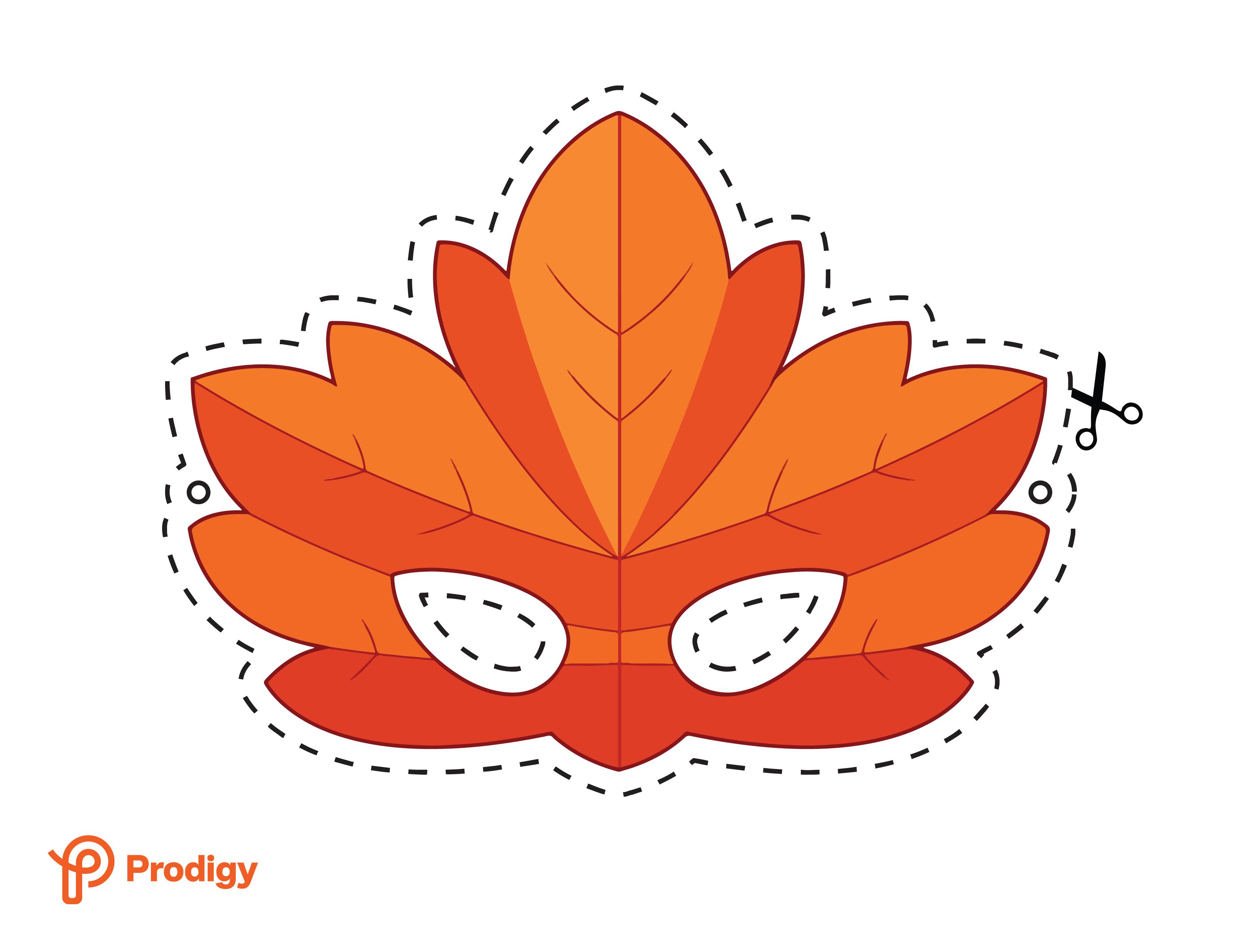 Printable leaf mask - color