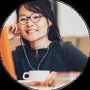 An online math tutor working remotely