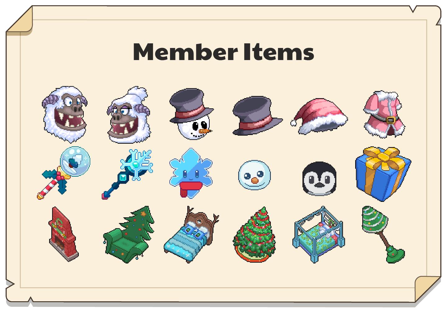 In-game Winterfest items for Premium Members