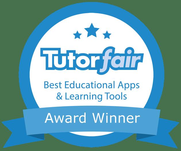 Tutorfair Best Educational Apps and Learning Tools Award Winner badge.