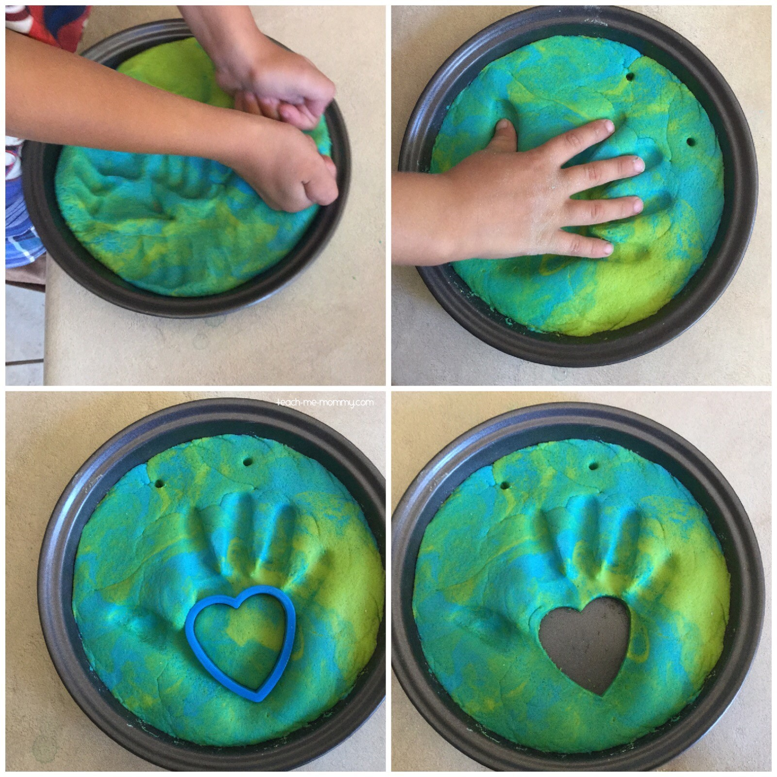 Earth handprint keepsake for Earth Day activities for kids