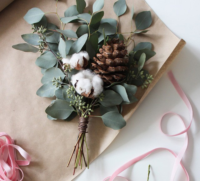 Homemade holiday bouquet