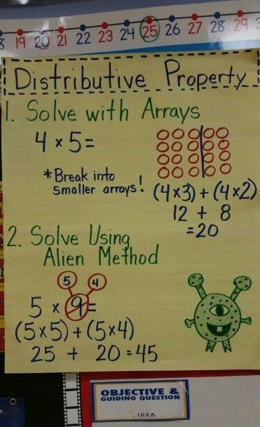 Solve distributive property with arrays