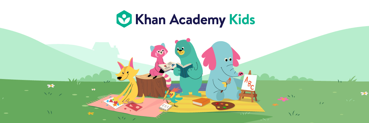 Khan Academy Kids learning app logo.