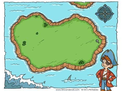 Blank treasure map template.