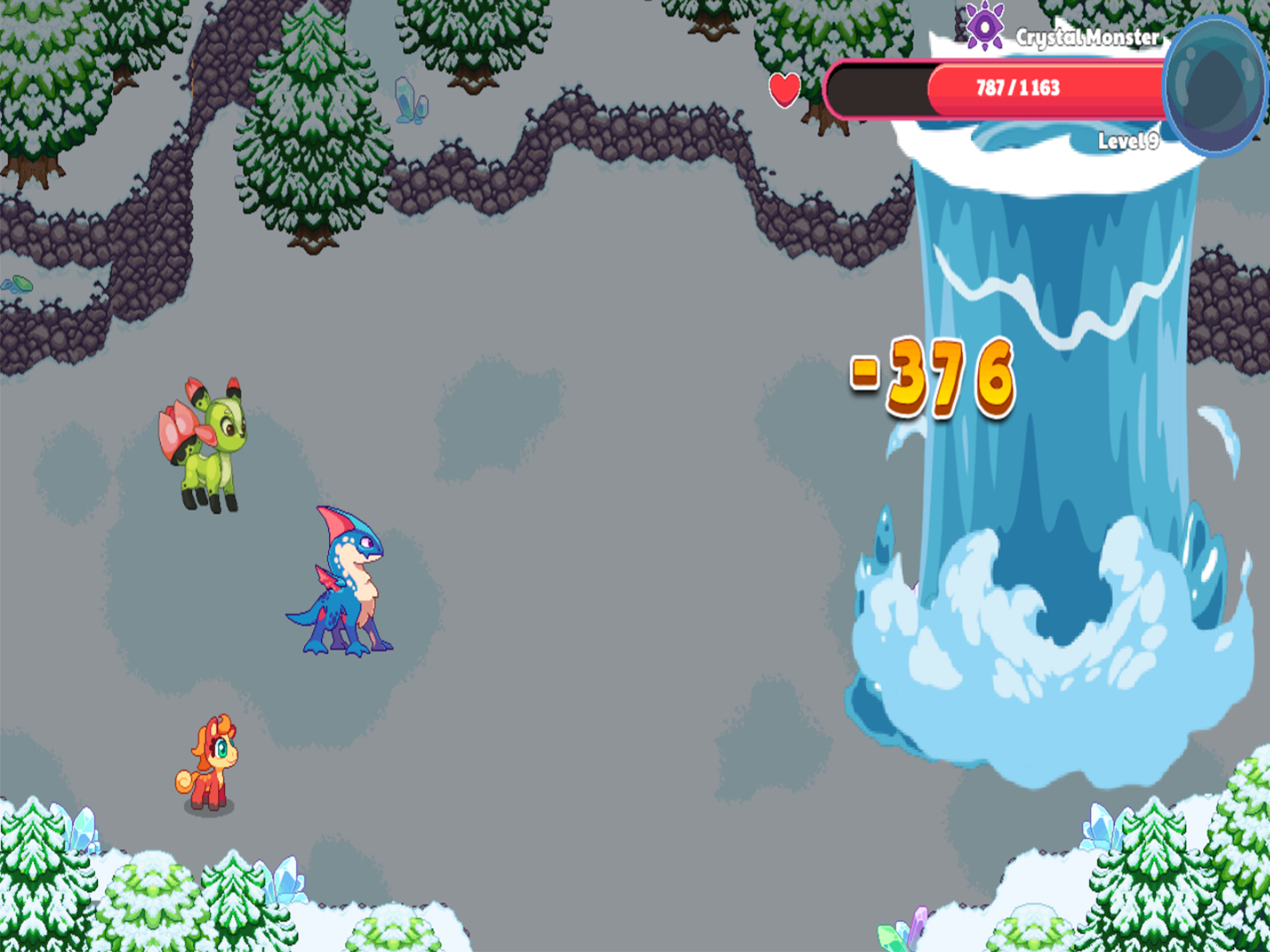 Screen shot from Prodigy Math Game showing Tidus battling a monster.
