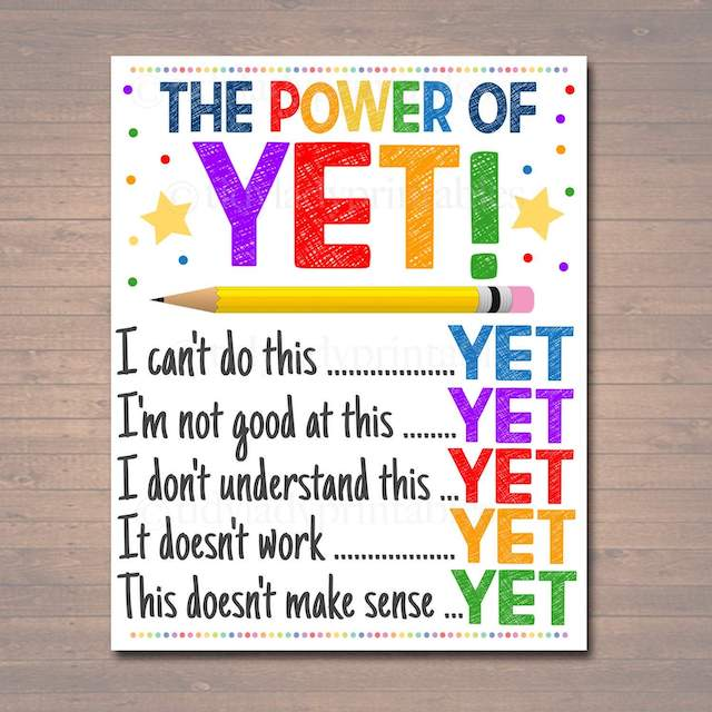 """The power of YET"" poster"