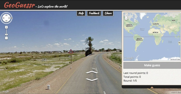 Geoguessr browser game