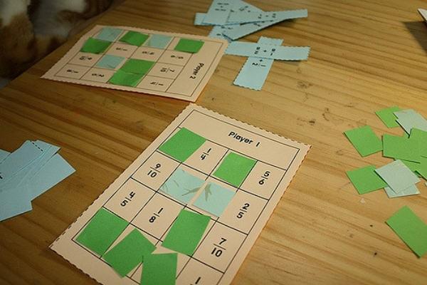 Fraction multiplication BINGO
