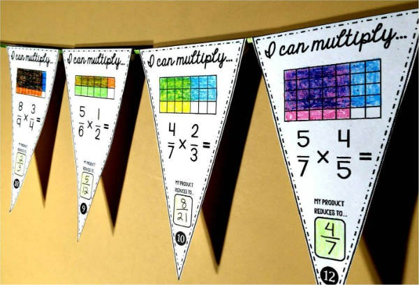 Multiplied fraction pennant