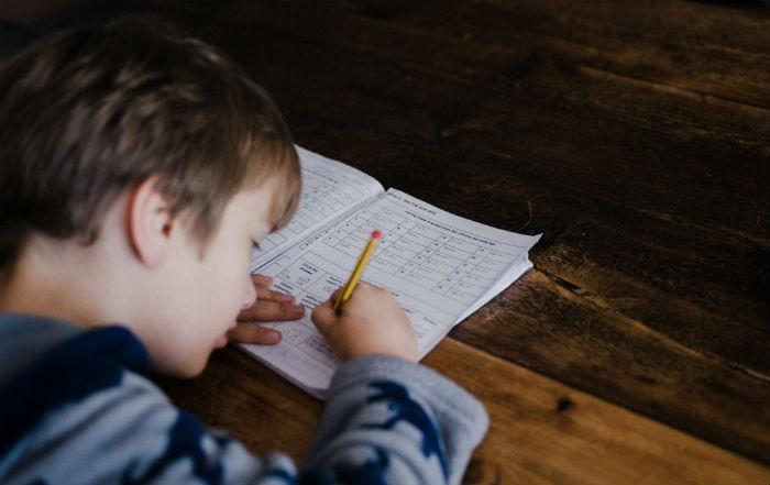 children struggling with math