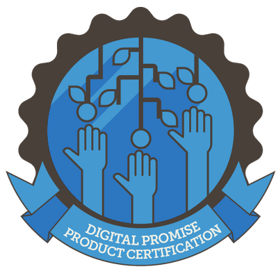 Digital Promise Product Certification badge for Learner Variability.