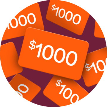 Image of $1000 giftcard for Prodigy's Create a Challenge Contest