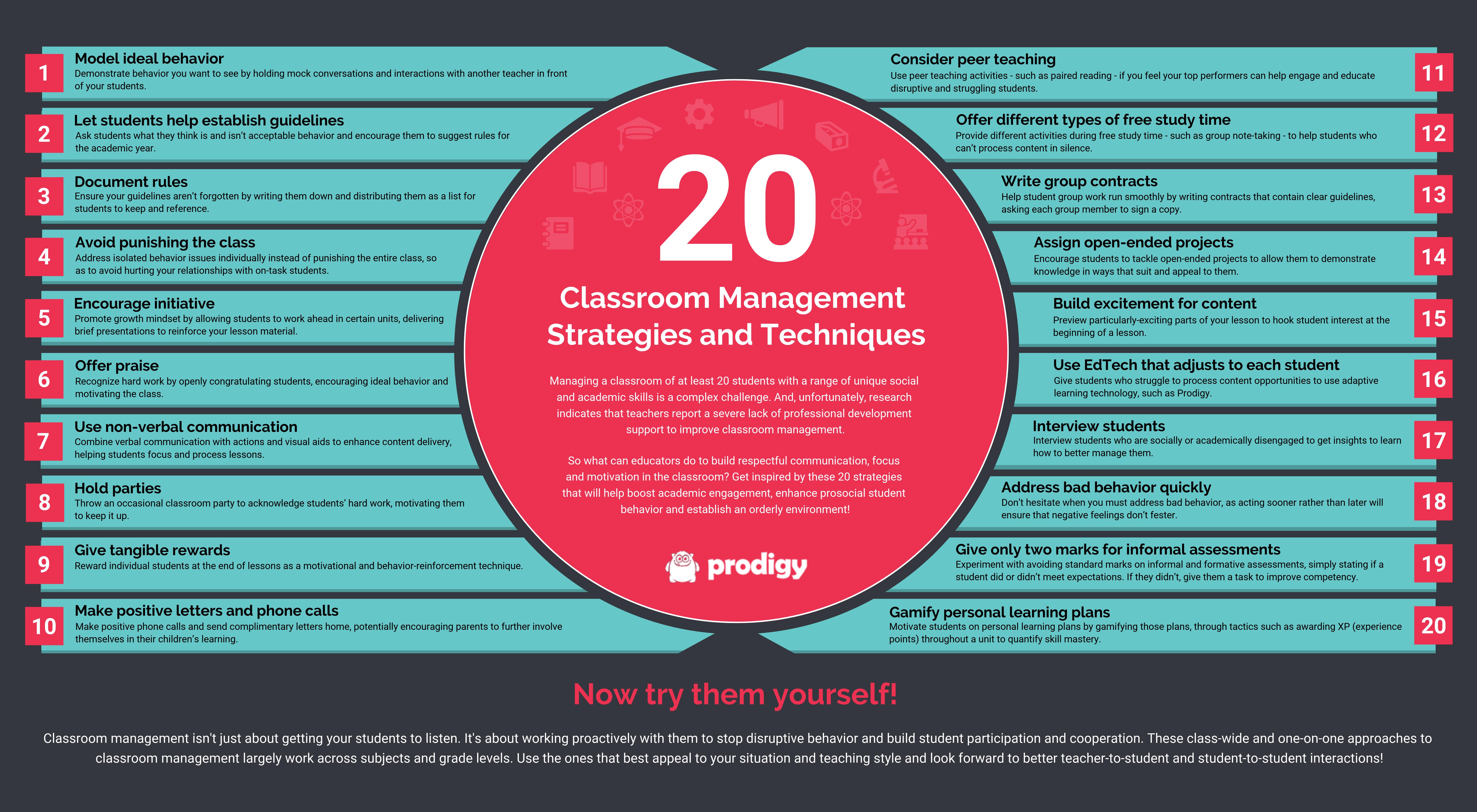 20 classroom management strategies