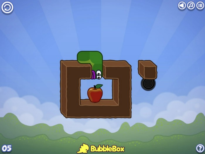 Apple worm browser game