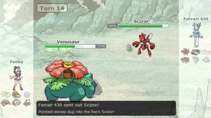 Pokemon showdown browser game