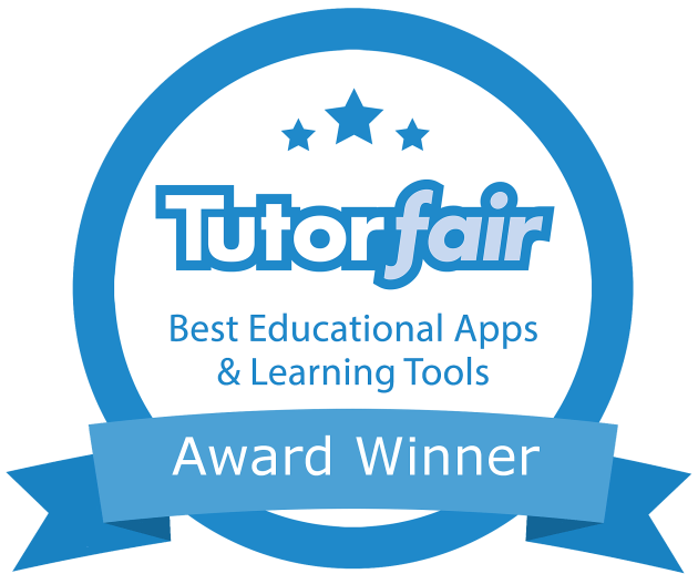 Tutorfair Best Educational Apps and Learning Tools Award Winner badge.