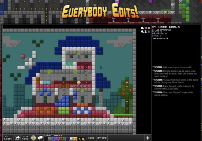 Everybody Edits browser game