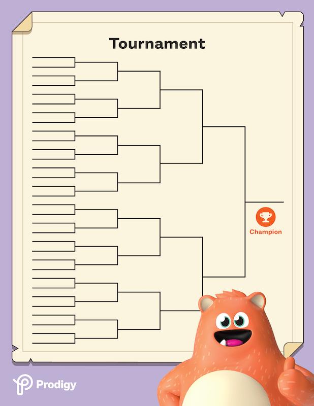 Prodigy tournament bracket for DIY tournaments