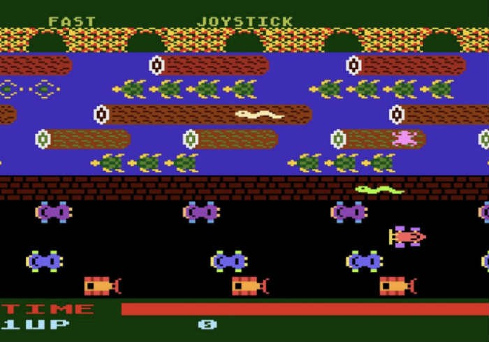 Frogger classic browser game