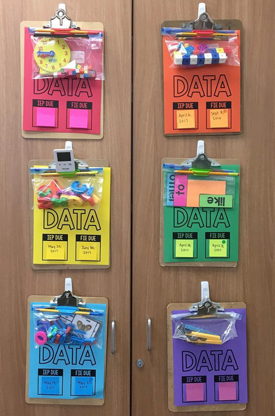 Storage clipboards for individual student data