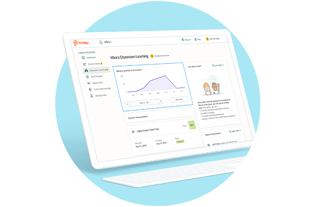 Prodigy's Premium Classroom Learning feature for parents