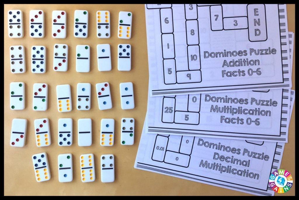 Domino puzzle board