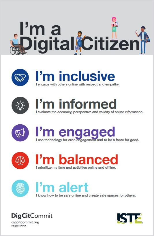 Digital citizenship poster from ISTE