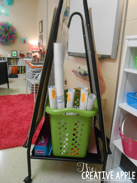 Anchor charts stored in classroom