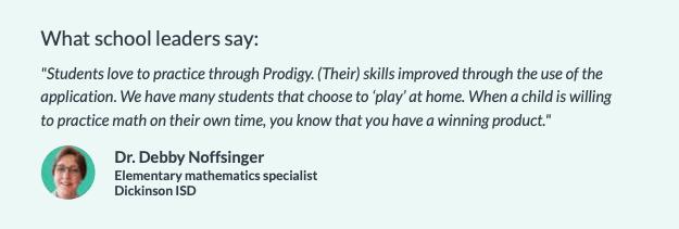 school leader quote Prodigy