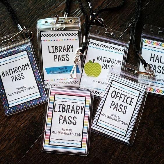 Laminated DIY hall passes