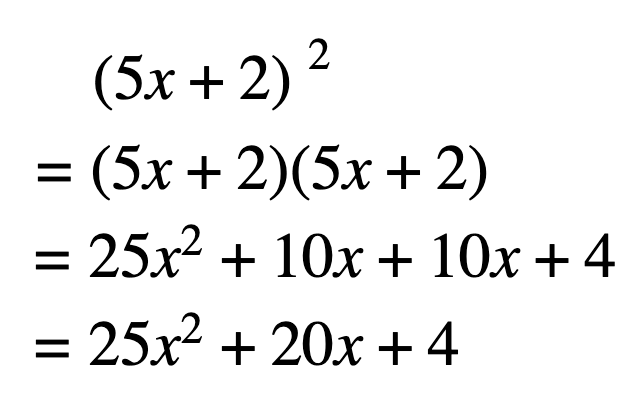 Distributive property with exponents