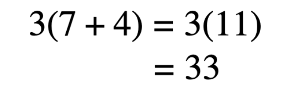 Multiply, or distribute, the outer term to the inner terms.