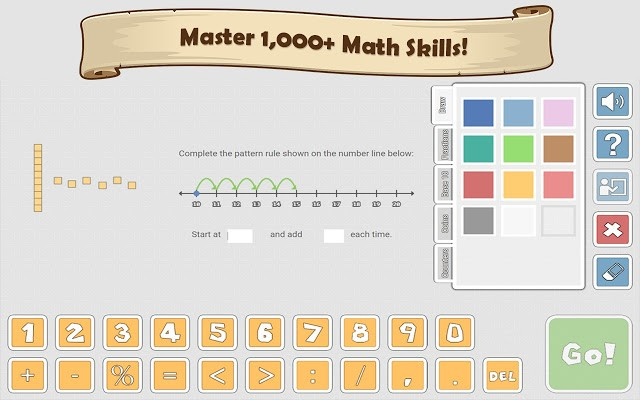 Prodigy math question console