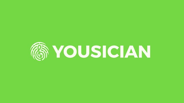 Yousician logo on green background