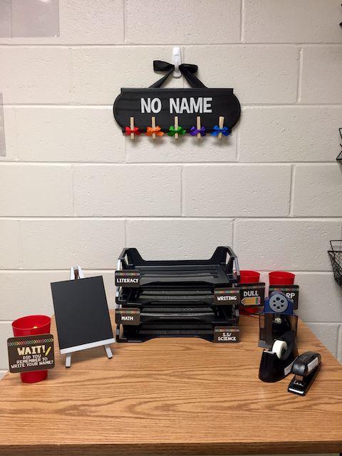 Classroom supply station