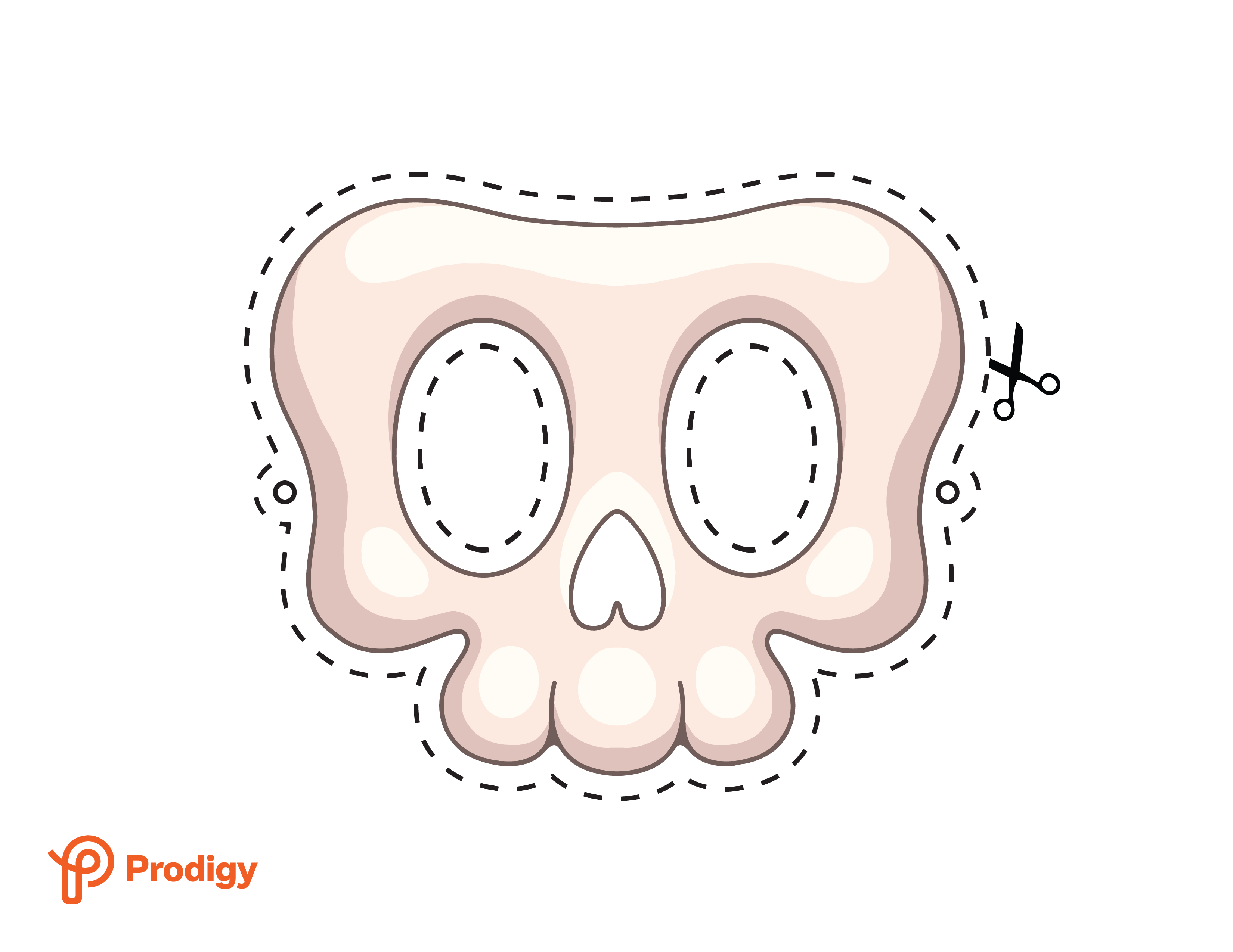 Printable skull mask - color
