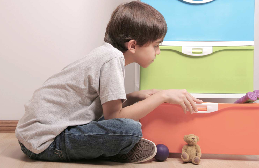 An image of a child on a scavenger hunt