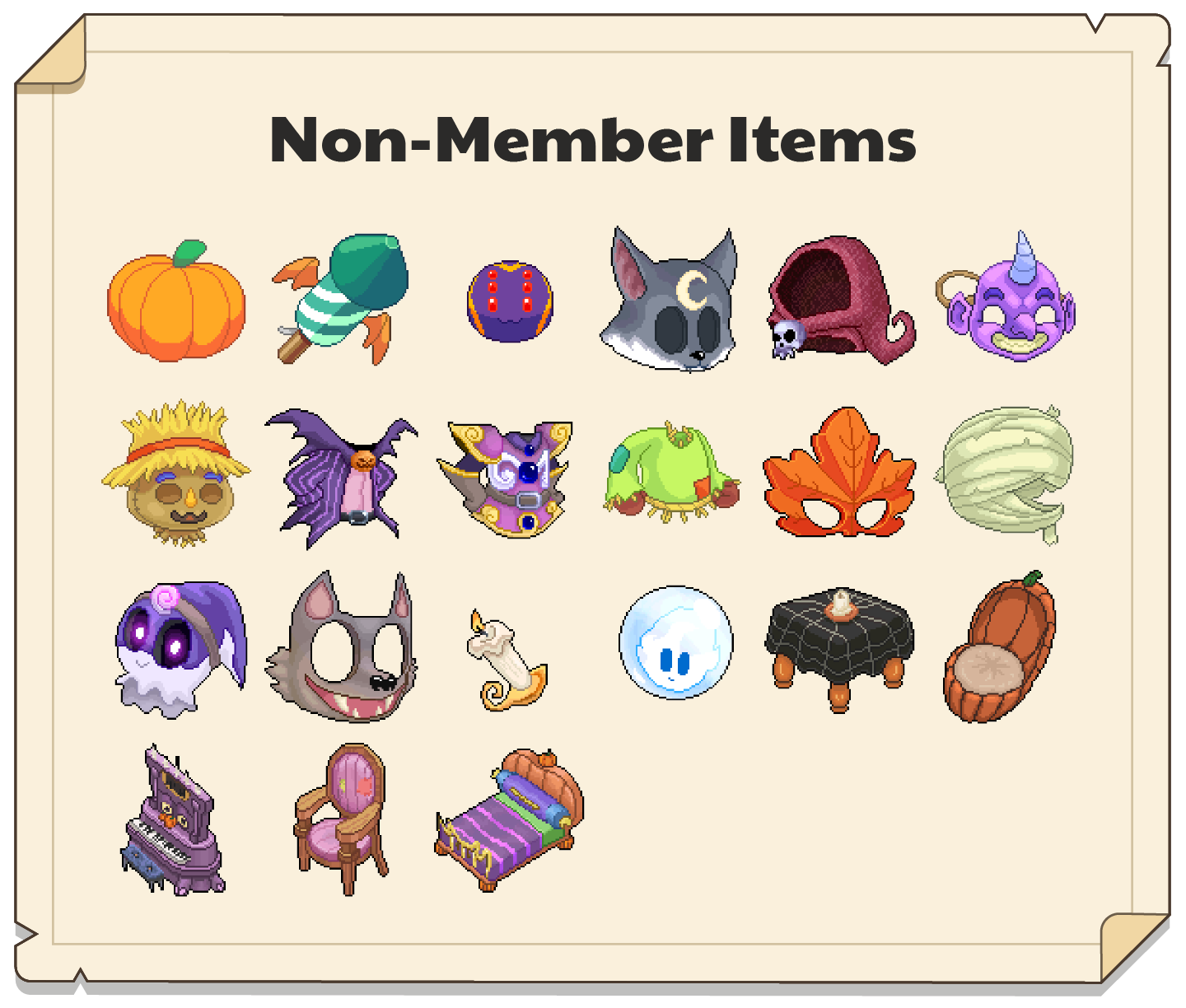 Gallery of Non-Member Pumpkinfest items